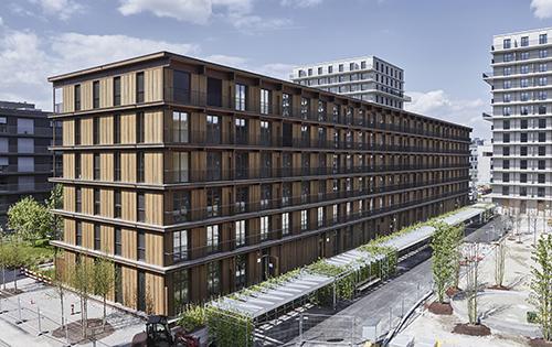 Druckimprägnierte und geölte Weisstanne an den Holzbauten im Freilager, Zürich